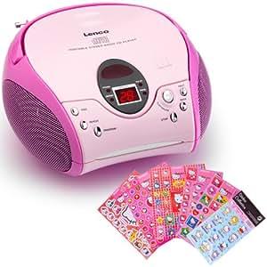 kinder m dchen stereoanlage cd player mp3 elektronik. Black Bedroom Furniture Sets. Home Design Ideas
