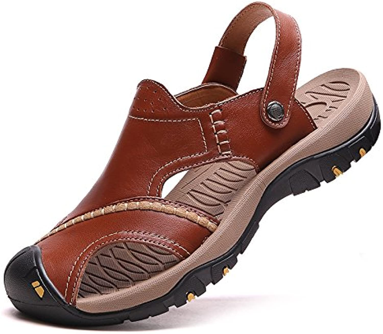 Sandali da da da Uomo Scarpe da Spiaggia Casual in Pelle Nuovo Stile Estivo Fondo Spesso Sandali Sportivi Antiscivolo... | Tecnologia moderna  d9c42f