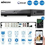 KKmoon 8CH Complet 1080N/720p AHD DVR HVR NVR HDMI P2P Nuage Réseau Onvif Digital Video Recorder + 1 TB HDD Plug-and-Play Android/iOS APP Libre CMS Navigateur Vue Motion Detection Email Alarme
