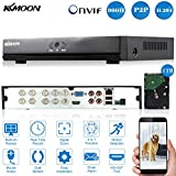 KKmoon 8CH DVR/NVR/HVR Grabadora de Video Full 960H/D1 (HDMI P2P Onvif + 1TB Disco Duro, Android/iOS APP, Detección Movimiento, Alarma Email, PTZ para Cámara de Vigilancia CCTV)