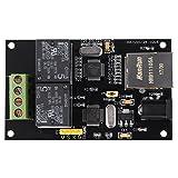 Ethernet-Relais, TCP/IP-Relais, 2-Wege-Internet-Relaiskarte Ethernet-TCP/IP-Controller Remote-Switch-Controller-Modul