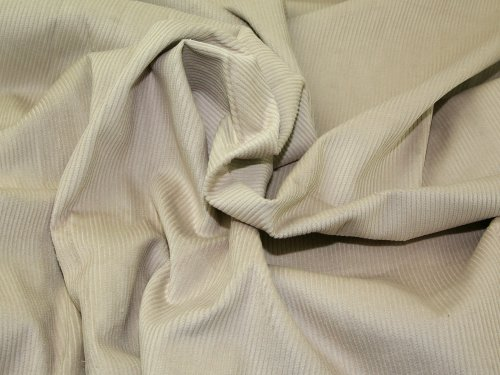 144.78 8 cm breit/Wale Cord-Stoff, Baumwolle, Meterware, cremefarben 8 Wale Corduroy