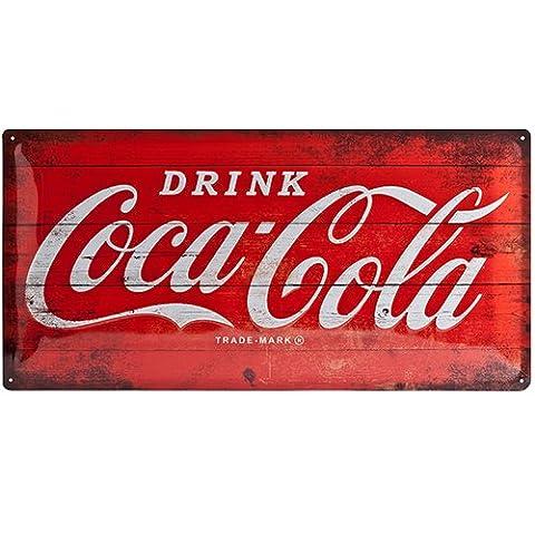 Nostalgic-Art 27005 Plaque rétro en tôle Motif Coca-Cola Rouge 25x50cm