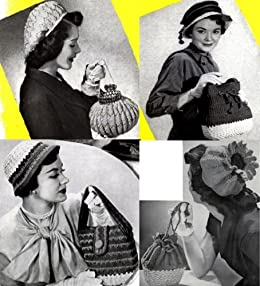 Sombreros de Crochet Vintage con coincidencia de patrones de ...