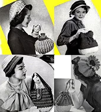 Jahrgang häkeln-Hüte mit passender Geldbörse Muster häkeln eBook ...
