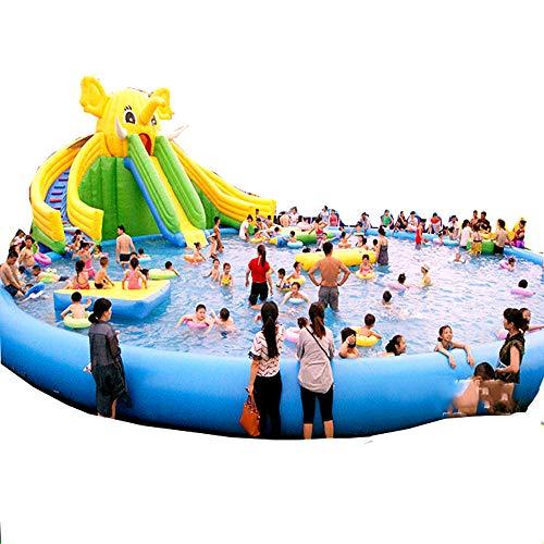 YUHAO(uk) Riesiger aufblasbarer Pool - Familie und Kinder aufblasbar, rechteckig
