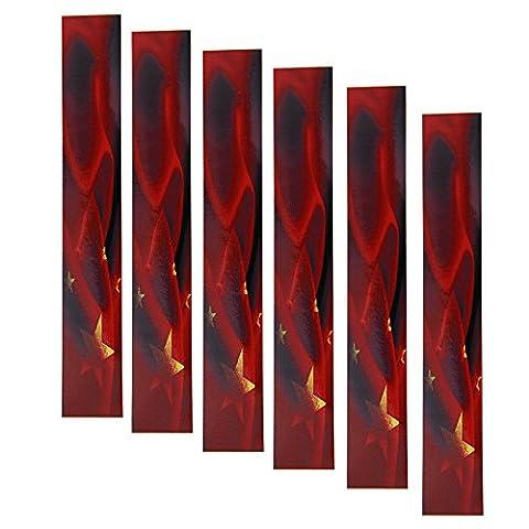Lot de 12/Lot Rouge Étoiles et Cobras Flèche Wraps pour shalfs Tir à l'arc de chasse