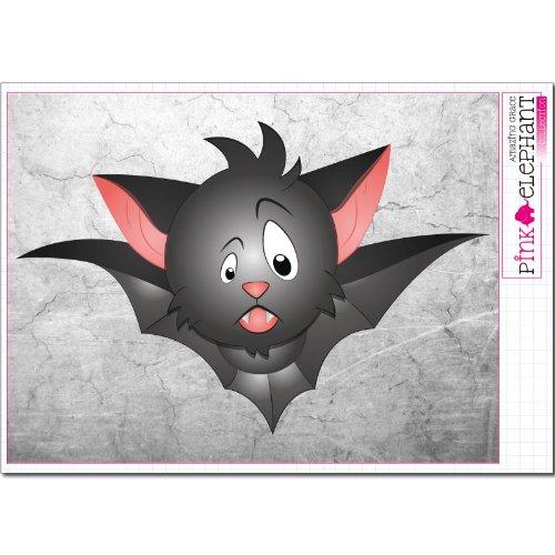 Preisvergleich Produktbild pinkelephant Aufkleber - Halloween - Fledermaus 09 - 25,5 cm x 17 cm (auf A4-Bogen) bat