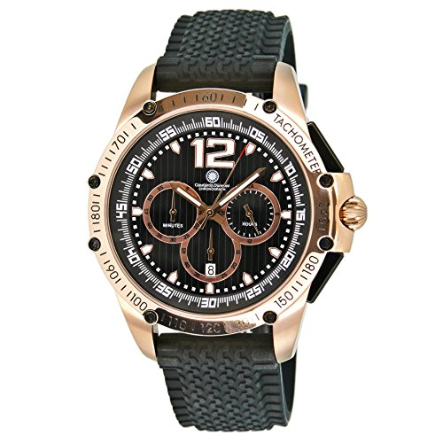 Constantin Durmont Gents Watch Quartz Chronograph XL Tribute Rubber CD Trib-Qz-Rb-Rgrg-BK