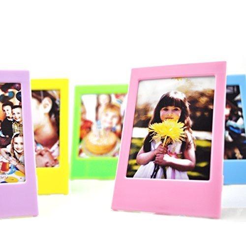 Fujifilm Instax Mini Zehnerpack Sofortbildfilm Fotorahmen Set, Hellohelio 10 bunte 7,5cm Rahmen, 10er Set