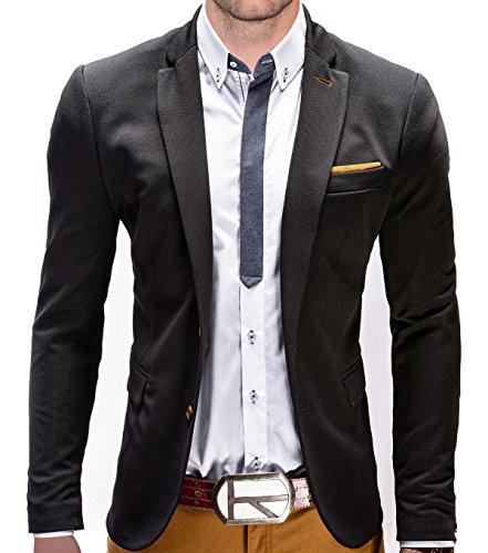 Braunes Sakko, Blazer (BetterStylz Juan Herren Sakko Jacket Blazer Freizeit Buisiness Jacke Slimfit Größen (S-XXL) (XXL, Black/Caramel))
