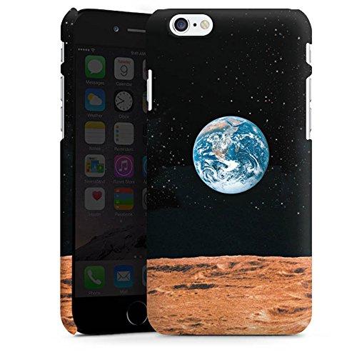 Apple iPhone X Silikon Hülle Case Schutzhülle Erde Mond Moon View Premium Case matt