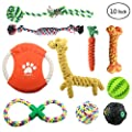 ONBET 10pcs Pet Dog Toys Durable Pet Rope Chew Toy Set Non-toxic Material Vibrant Colors Attractive Design for Dogs from ONBET