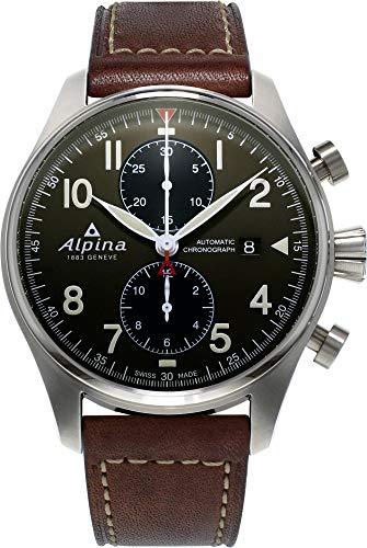 Alpina Geneve STARTIMER PILOT AUTO CHRONO AL-725GR4S6 Cronografo uomo Rotore Alpina