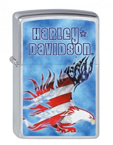 Zippo, Accendino, motivo: Aquila americana Harley Davidson
