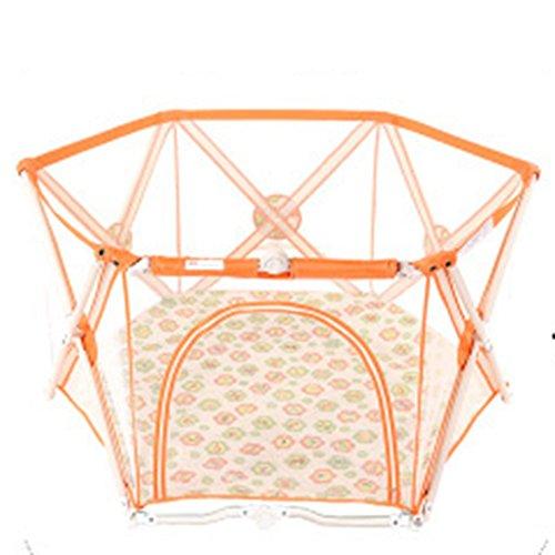 Faltbares Bewegliches Baby-Laufgitter-orange Tätigkeits-Center-im Freienhaus-Ausgangsinnenkleines Mädchen Scherzt Sicherheits-Spiel-Yard-6 Platte (Farbe : - Baby-mädchen-spiel-yard
