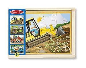 Melissa & Doug- Construction Juego Jigsaw Puzzle, Multicolor (Melissa&Doug 13792)