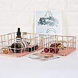 TwinkBling Draht Aufbewahrungskorb Küche Badezimmer-Regal, Make-up-Organizer, für Badezimmer, Pantry, L: 24.5 x 16 x 6.5cm