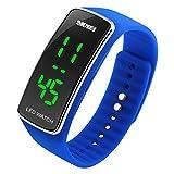 BesWLZ Unisex Kinder Digitaluhr Wasserdichte Sport Armbanduhr für Jungen Uhr Mädchen Kinderuhren (Blue)