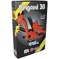 21c110130d  Origami 3d Kit Dragón Dragon 490 Unidades. – Cartón pre-segnato para ·