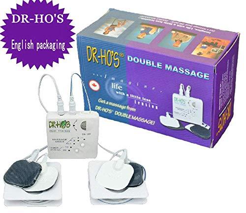 Massage-lehr-dvd (Leiona Elektrisches Massagegerät, Dual-Output-Pulse-Massagegerät Physiotherapie-Instrument Maschine zur Schmerzlinderung bei Rücken-Ischias)