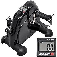 oukaning Mini de Bike Movimiento de entrenamiento doméstico Pedalera para ejercitar brazos y piernas Monitor LCD