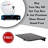 Tata Sky & Mounts XLNC Premium HD High Definition Set Top Box with Glass DTH Stand(Black)