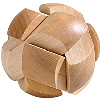Playtastic-Knobelspiel-Geduldspiel-Fuball-aus-Holz-Anspruchvolle-Knobelspiele