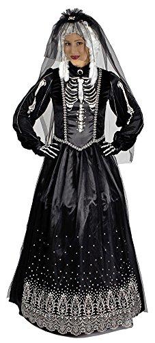 Schwarze Zombie Braut Kostüm für Damen - Gr. 40 42