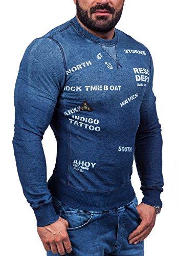 BOLF - Sweat-shirt - Maglione sportivo - con la stampa - BREAD&BUTTONS 9120 - Uomo Blu scuro