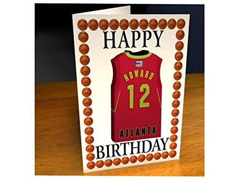 NBA BASKETBALL JERSEY THEMED MAGNET BIRTHDAY CARDS - PERSONALISED BIRTHDAY CARD - ANY NAME, ANY NUMBER, ANY TEAM !!! Test