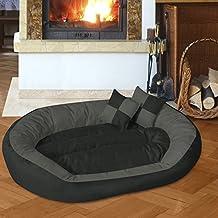BedDog 4 en 1 SABA antracita/gris XXL aprox. 110x80cm colchón para perro, 7 colores, cama para perro, sofá para perro, cesta para perro