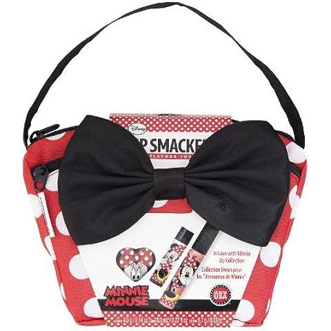 Lip Smacker maleta establece con 1 protector labial y brillo de labios 2 piezas, Tema: Disney Minnie Mouse