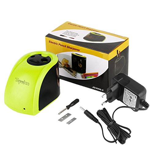 Tepoinn batería / de accionamiento a 2 agujeros de diferentes tamaños Sacapuntas eléctrico