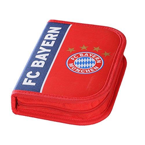 """Preisvergleich Produktbild Federmäppchen FC Bayern MÜNCHEN FCB + gratis Sticker """"München forever"""", Federmappe, Schulmäppchen gefüllt mit Stiften Schuletui"""
