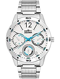 Monax Multi Color Dial Stainless Steel Chain Analog Watch For Men & Boys - MM101