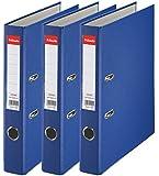 Esselte D50 Lot de 3 Essentials Classeur à levier Bleu foncé