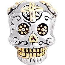 KUSTOM FACTORY Charms Tete DE Mort Mexicaine pour Pandora b65620a8bed