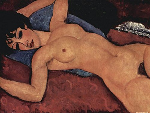 Amedeo Modigliani Kunstdruck (1art1 58417 Amedeo Modigliani - Liegender Akt, 1917 Poster Kunstdruck 80 x 60 cm)