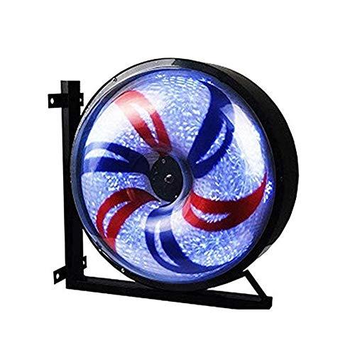 LED Barber Pole Licht Friseursalon Zeichen Pole Aluminium Windmühle Licht Beleuchtet Salon Rotierenden Veranda Attraktive Zeichen Wasserdicht Sparen Energie Barber Shop Blinker 58x32X58cm (Salon-elemente)