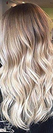 Ugeat 24 Zoll Micro Ring Schleife brasilianische Haarverlängerung Balayage Farbe # 4/18/22 braun mit blonden Haarverlängerungen Mikroringe 50 Gramm pro Paket