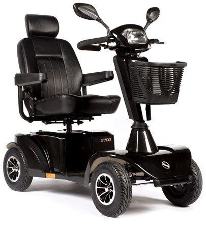 Sterling S700 12 km/h E-Mobil, Elektromobil bis 160kg belastbar das schicke Seniorenmobil in schwarz metallic inkl. Anlieferung/Einweisung/Aufbau vor Ort
