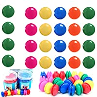 lilyshopingstore 50pcs Fridge Magnets ,Spherical Muliticolor Refrigerator Magnetic Button Office Board Planning Magnets for Calendars Whiteboards Maps Resin Fun Decorative Decoration 30mm (pack of 50)