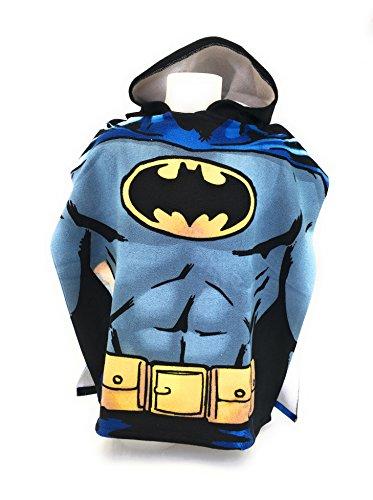 DC COMICS BATMAN Badeponcho-Cape de Bain-Mikrofaser 100% Polyester-110x 55cm-Batman-DC Comics
