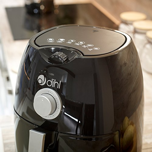 Dihl Red 4L Dial Air Fryer Rapid Healthy Cooker Oven Low Fat Free Food Frying