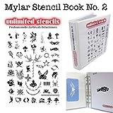 UNLIMITED STENCILS MYLAR SCHABLONEN-BUCH Nr. 2 mit PLAKAT DIN A1