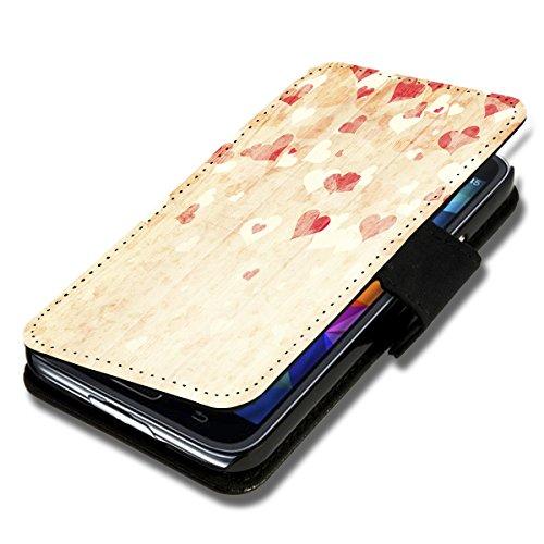 Book Style Flip Handy Tasche Case Schutz Hülle Foto Schale Motiv Etui für LG L Bello - A52 Design9