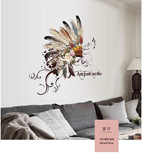 Wandaufkleber wohnzimmer schlafzimmer bad sofa tisch hintergrund dekoration aufkleber glasaufkleber türen und fenster kunst poster wandkunst malerei PVC83 * 78 cm - Asche-wohnzimmer-sofa-tisch
