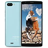 SIM Free Mobile Phones, Blackview A20 Android Go Unlocked Smartphone, 18:9 Full Display 5.5� HD IPS Screen, 5.0MP+0.3 Dual Rear Cameras with Flash Light, 3000mAh Large Battery and 1GB+8GB Cheap Mobile Phone, 3G /WiFi/GPS/Bluetooth 4.1-Blue