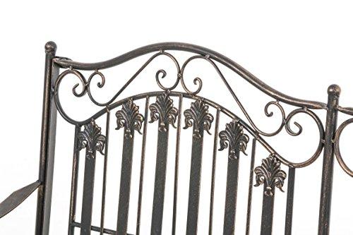 CLP Metall-Gartenbank RONJA im Landhausstil, Eisen lackiert, 108 x 55 cm, 2er Sitzbank Bronze - 4